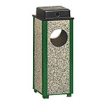 Rubbermaid FGR41WU202PL 2-1/2-gal Square Aspen Urn with Weather Urn - Desert Brown Stone/Green
