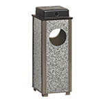 Rubbermaid FGR41WU6000PL 2-1/2-gal Aspen Ash/Trash Receptacle - Weather Urn, Glacier Gray Stone/Bronze