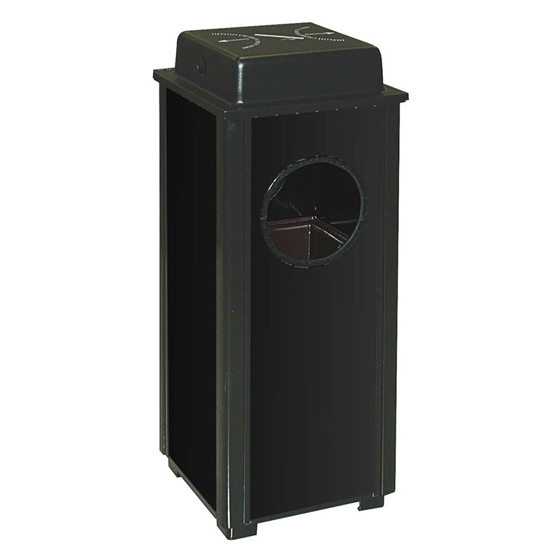 Rubbermaid FGR41WUSBKPL 2-1/2-gal Aspen Ash/Trash Receptacle - Weather Urn, Black