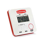 Rubbermaid FGR442188 Digital Timer - 24-hour Clock/Timer, Stopwatch, Pocket Clip, Magnetic Back