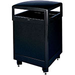 Rubbermaid FGR48HTSBKPL 48-gal Aspen Waste Receptacle - Hinged Top, Plasti