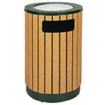 Rubbermaid FGR56SU50PLEGN 40-gal Ash/Trash Receptacle - Sand Urn Top, Plastic Liner, Cedar/Empire Green