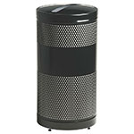 Rubbermaid FGS3EPBKPL 25-gal Paper Recycle Bin - Indoor/Outdoor, Decorative