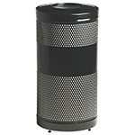 Rubbermaid FGS3ETBKPL 25-gal Cans Recycle Bin - Indoor/Outdoor, Decorative