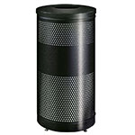 "Rubbermaid FGS3ETHGRPL 25-gal Recycling Receptacle - ""Cans or Bottles"" Drop Top, Plastic Liner, Charcoal"