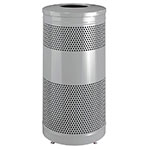 Rubbermaid FGS3ETSMPLBK 25-gal Cans Recycle Bin - Indoor/Outdoor, Decorative