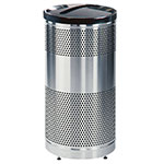 Rubbermaid FGS3SSPBKPL 25-gal Paper Recycle Bin - Indoor/Outdoor, Decorative