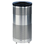 Rubbermaid FGS3SSTBKPL 25-gal Cans Recycle Bin - Indoor/Outdoor, Decorative