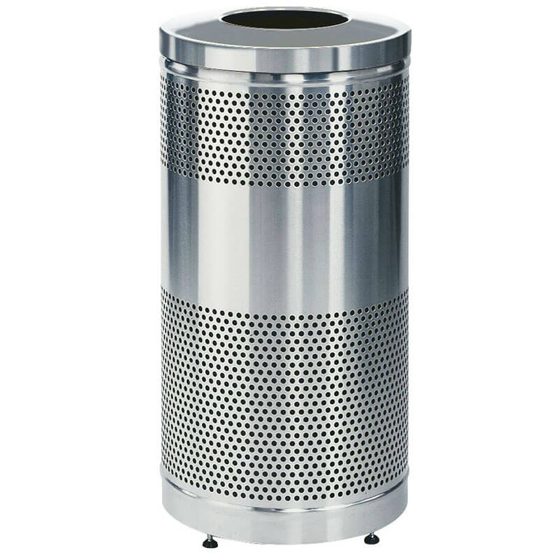Rubbermaid FGS3SSTSSPL 25-gal Cans Recycle Bin - Indoor/Outdoor, Decorative