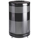"Rubbermaid FGS55ETBKPL 51-gal Recycling Receptacle - ""Cans or Bottles"" Drop Top, Black"