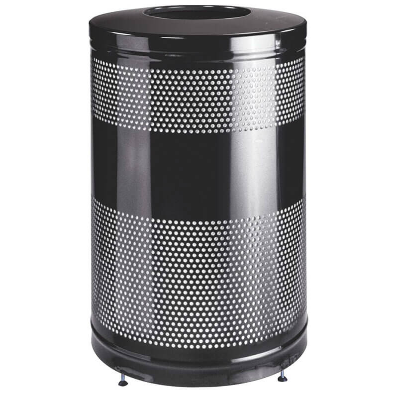 rubbermaid fgs55etbkpl 51 gal cans recycle bin indoor outdoor decorative. Black Bedroom Furniture Sets. Home Design Ideas