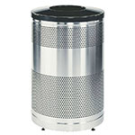 "Rubbermaid FGS55SSTBKPL 51-gal Recycling Receptacle - ""Cans or Bottles"" Drop Top, Plastic Liner, Black"