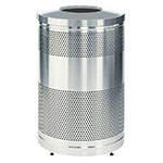 "Rubbermaid FGS55SSTSSPL 51-gal Recycling Receptacle - ""Cans or Bottles"" Drop Top, Plastic Liner, Stainless"
