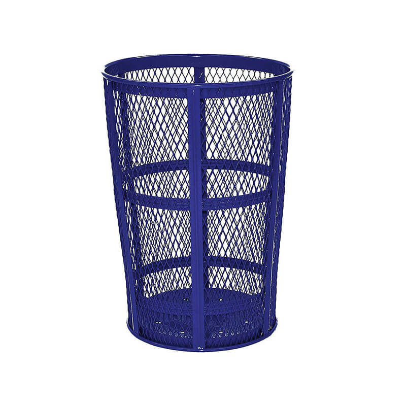 Rubbermaid FGSBR52COB 45-gal Street Basket Outdoor Receptacle - Bottom Drain, Cobalt Blue