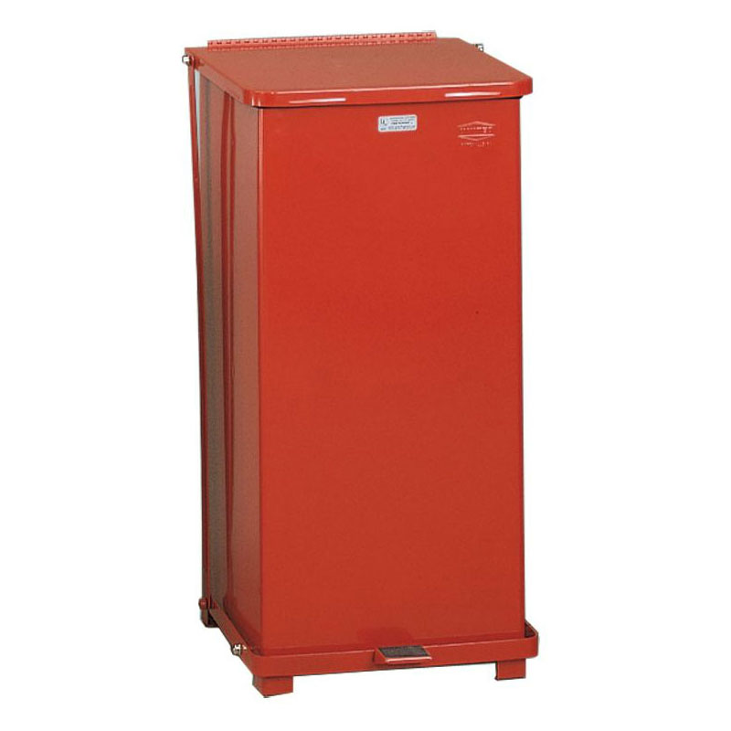 Rubbermaid FGST24ERBRD 24-gal Defenders Step Waste Can - Red