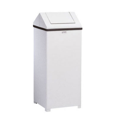 Rubbermaid FGT1424ERBWH 24-gal Indoor Decorative Trash Can - Metal, White