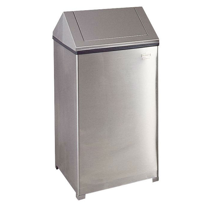 Rubbermaid FGT1940SSPL 40-gal Indoor Decorative Trash Can - Metal, Stainless Steel