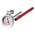 "Rubbermaid FGTHB212DSP Cafe Thermometer - 1-1/2"" Dial with Stem, 120 to 212 F Stainless"