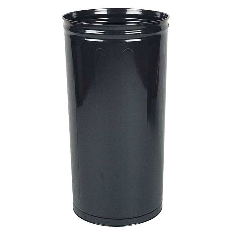 "Rubbermaid FGWB2029BK 16"" Steel Wastebasket - 80-qt Capacity, Black"