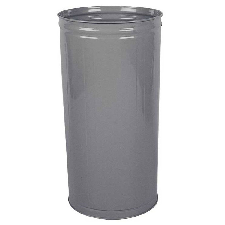 Rubbermaid FGWB2029GR 80-qt Round Waste Basket - Plastic, Gray