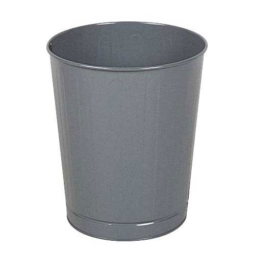 Rubbermaid FGWB26GR 26-qt Round Waste Basket - Plastic, Gray
