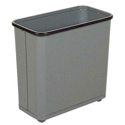 "Rubbermaid FGWB30RGR 30-qt Steel Wastebasket - 8x17x15"" Gray"