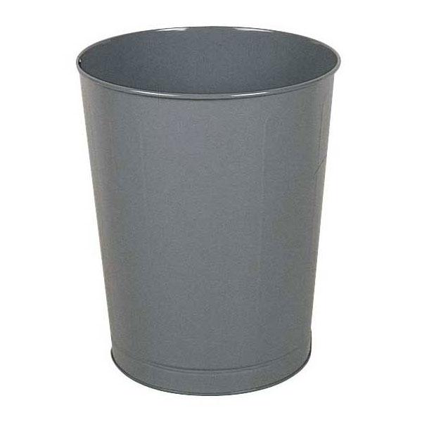 Rubbermaid FGWB44GR 44-qt Rectangle Waste Basket - Metal, Gray