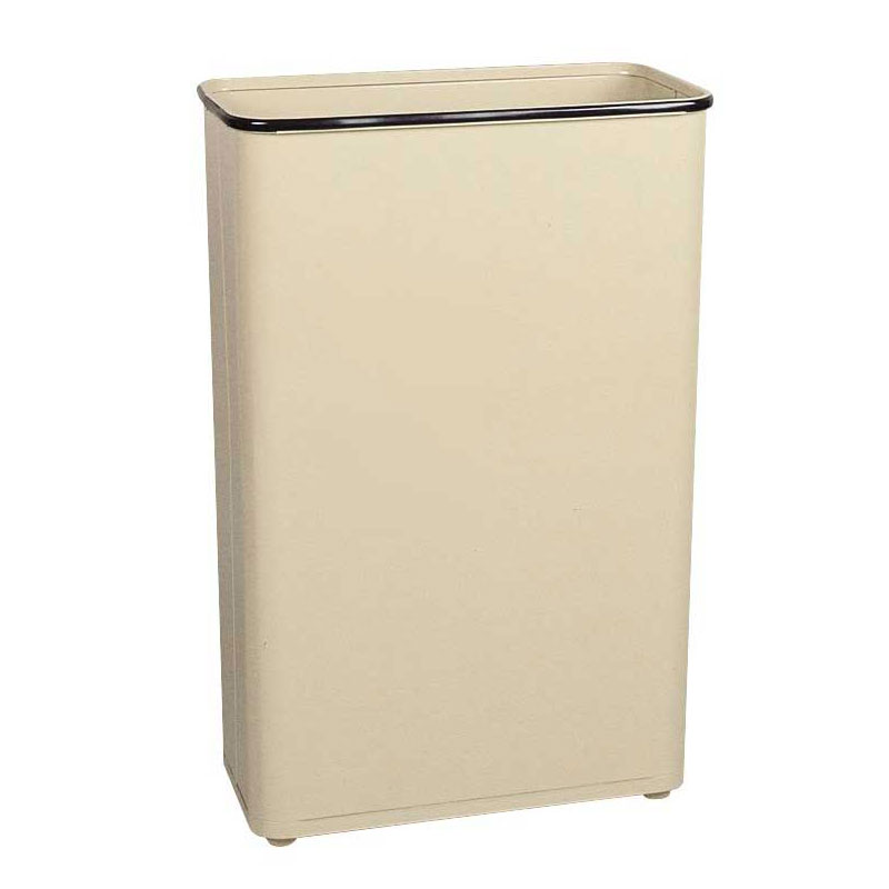 "Rubbermaid FGWB96RAL 96-qt Steel Wastebasket - 11x21x30"" Almond"
