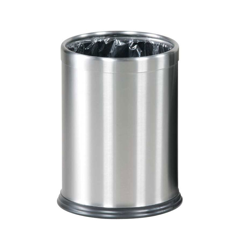 Rubbermaid FGWHB14SS 3.5-qt Round Waste Basket - Metal, Stainless