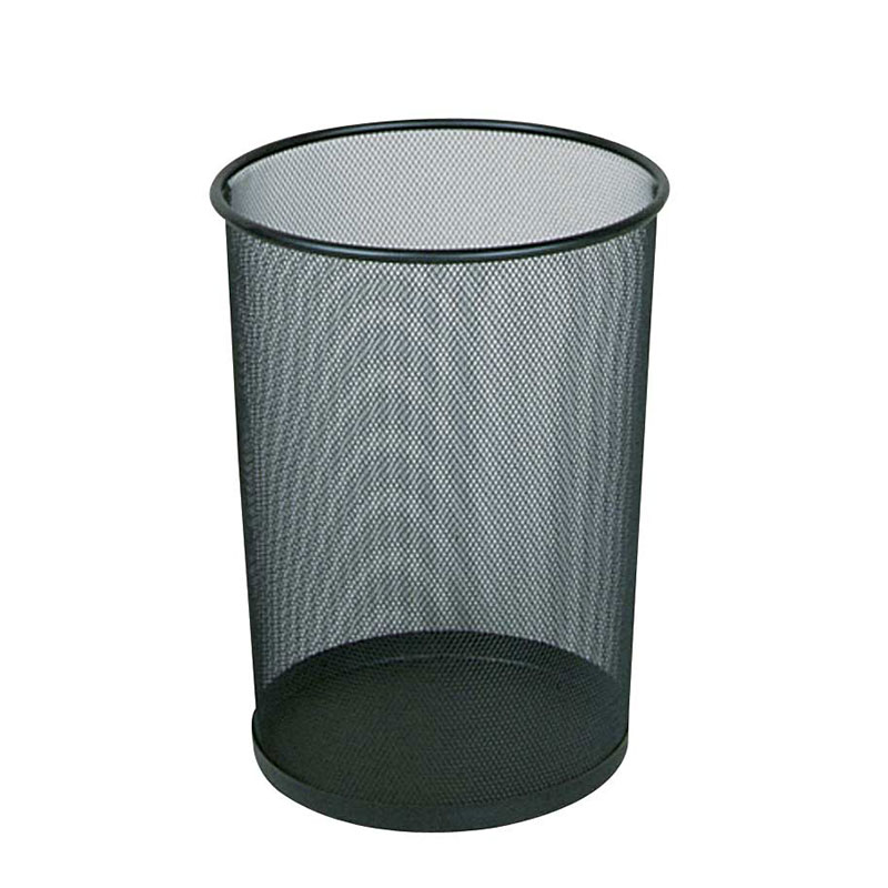 Rubbermaid FGWMB20BK 5-qt Round Waste Basket - Metal, Black