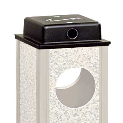 Rubbermaid FGWU Trash Can Top Cigarette Receptacle - Outdoor Rated