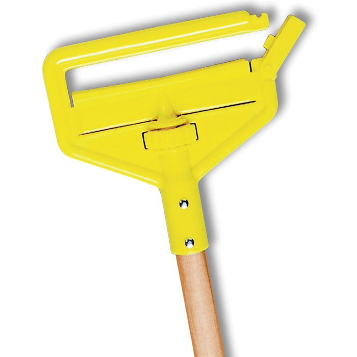 "Rubbermaid FGH115000000 54"" Invader Wet Mop Handle - 1"" Headbands, Plastic/Yellow"