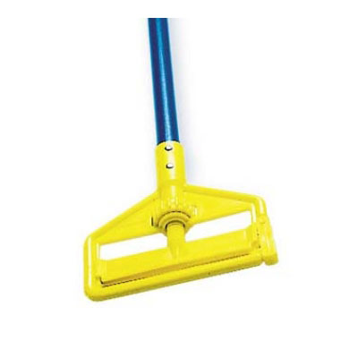 "Rubbermaid FGH126000000 60"" Invader Wet Mop Handle - 1"" Headbands, Aluminum/Yellow"