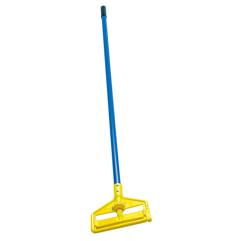 "Rubbermaid FGH14600GY00 60"" Invader Wet Mop Handle - 1"" Headbands, Plastic, Yellow/Gray"