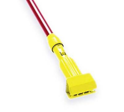 Rubbermaid FGH24600GR00 Wet Mop Handle 60 in L Fiberglass w/ Plastic Head 5 in Headbands Only Green Restaurant Supply