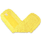 "Rubbermaid FGJ15500YL00 Trapper Dust Mop - 36x5"" Half-Tie Backing, Yarn, Yellow"