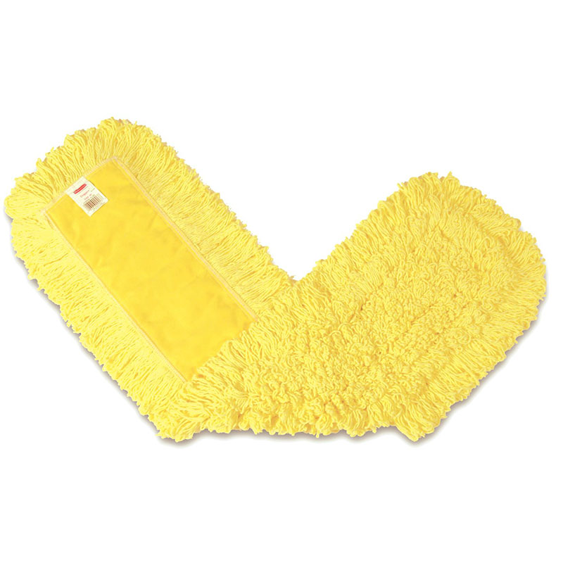 "Rubbermaid FGJ15500YL00 36"" Trapper® Dust Mop Head Only w/ Looped Ends, Yellow"