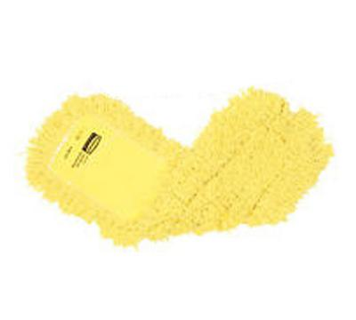 "Rubbermaid FGJ25200YL00 Dust Mop - 18x5"" Twisted Loop, Slip-On/Slip-Through Backing, Yellow"