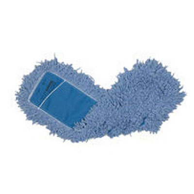 "Rubbermaid FGJ25200BL00 Dust Mop - 18x5"" Twisted Loop, Slip-On/Slip-Through Backing, Blue"
