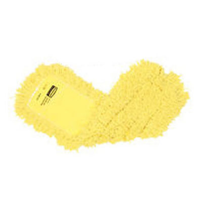 "Rubbermaid FGJ25300YL00 Dust Mop - 24x5"" Twisted Loop, Slip-On/Slip-Through Backing, Yellow"