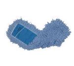 "Rubbermaid FGJ25700BL00 Dust Mop - 48x5"" Twisted Loop, Slip-On/Slip-Through Backing, Blue"