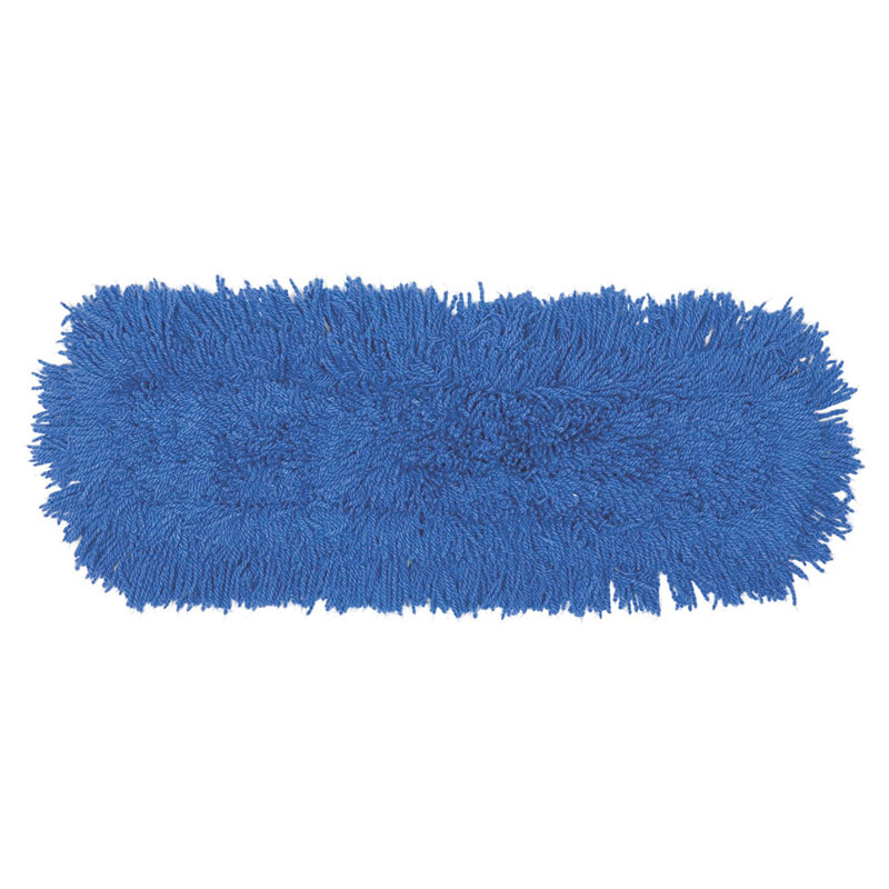 "Rubbermaid FGJ35300BL00 Dust Mop - 24x5"" Slip-On/Slip-Through Backing, Blue"