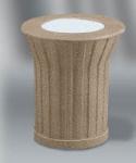 """Rubbermaid FGKSM108000 20"""" Keystone Urn - Architectural Bronze with Sierra Brown Concrete"""