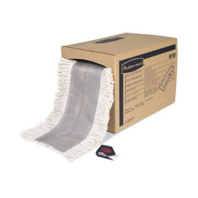 "Rubbermaid FGM15000WH00 Select-a-Length™ Dust Mop Roll - 40' x 5"", Cut Ends, White"