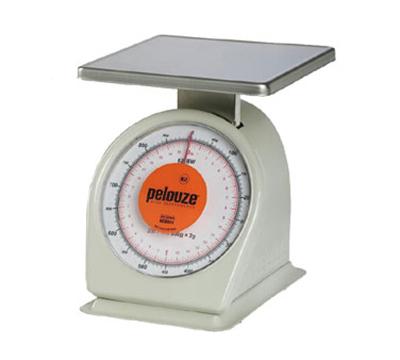 Rubbermaid FG832BW Pelouze Portion Scale - Dial Type, 32-oz x 1/8-oz/900g x 2-g, Orange Lens