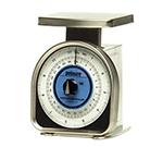 Rubbermaid FGA012R Pelouze Portion Scale - Blue Lens, 25-lb x 2-oz/10-kg x 50-g, Aluminum/Stainless