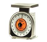 Rubbermaid FGA12R Pelouze Portion Scale - 32-oz x 1/4-oz/900-g x 5 g, Orange Lens, Aluminum