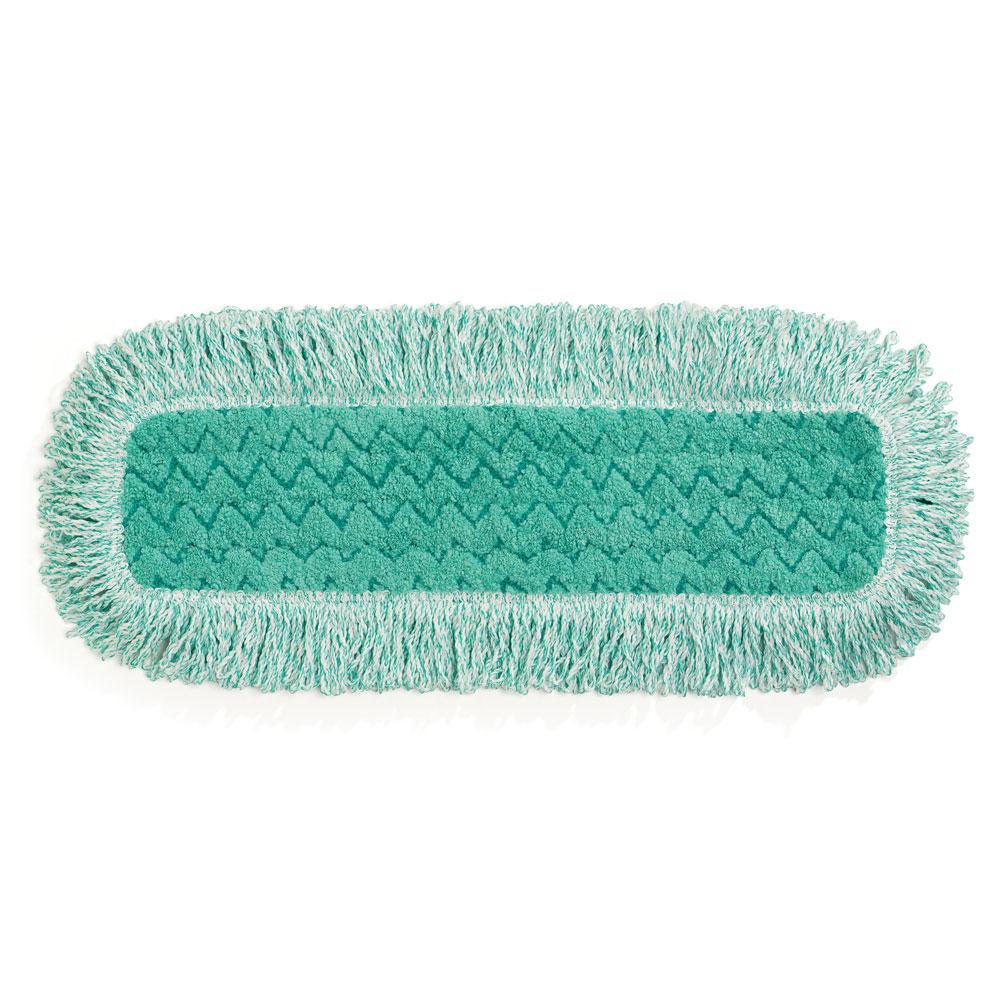 "Rubbermaid FGQ41800GR00 18"" Hygen Dust Pad with Fringe - Microfiber, Green"