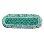 "Rubbermaid FGQ42600GR00 24"" Hygen Dust Pad with Fringe - Microfiber, Green"