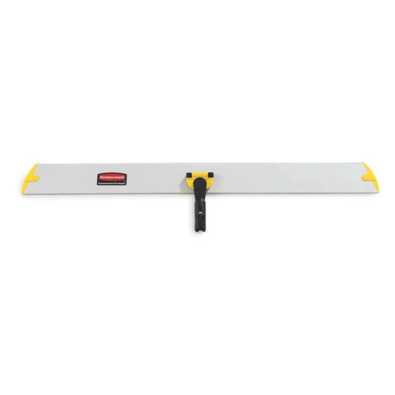 "Rubbermaid FGQ58000YL00 36"" Hygen Hall Dusting Frame - Flat, Hook-and-Loop Strips, Aluminum, Yellow"